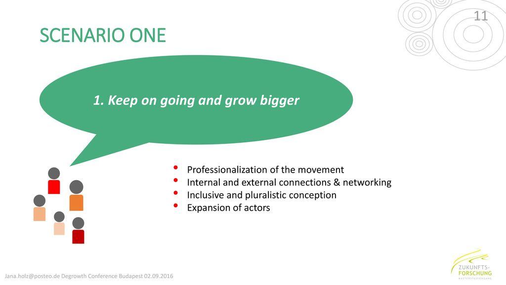1. Keep on going and grow bigger