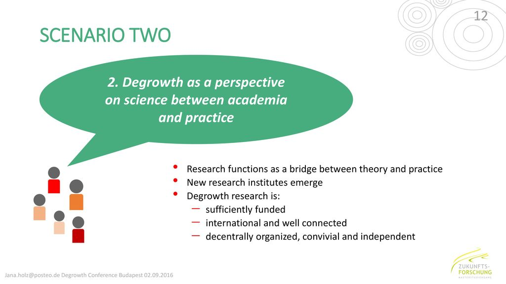 2. Degrowth as a perspective on science between academia and practice