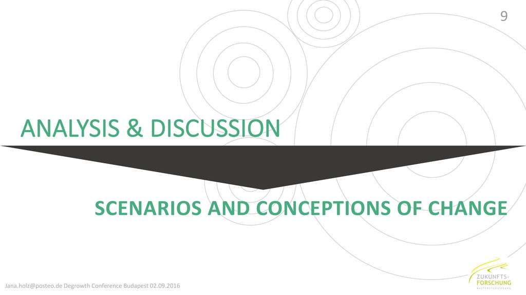 ANALYSIS & DISCUSSION Scenarios and Conceptions of change