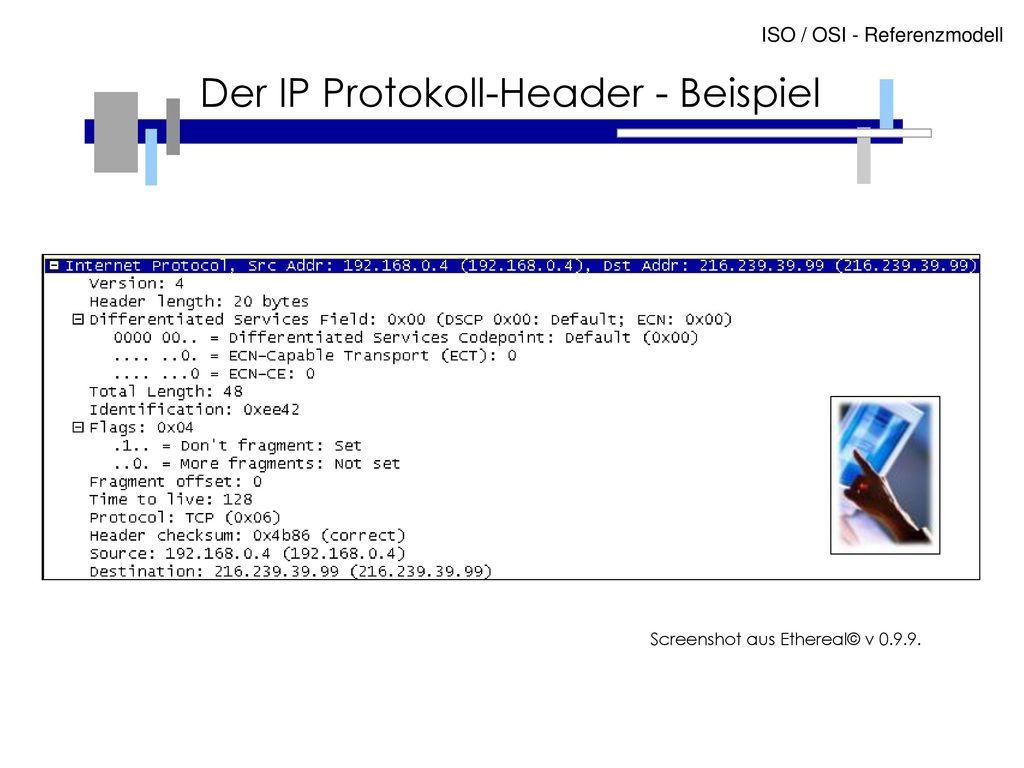 Der IP Protokoll-Header - Beispiel