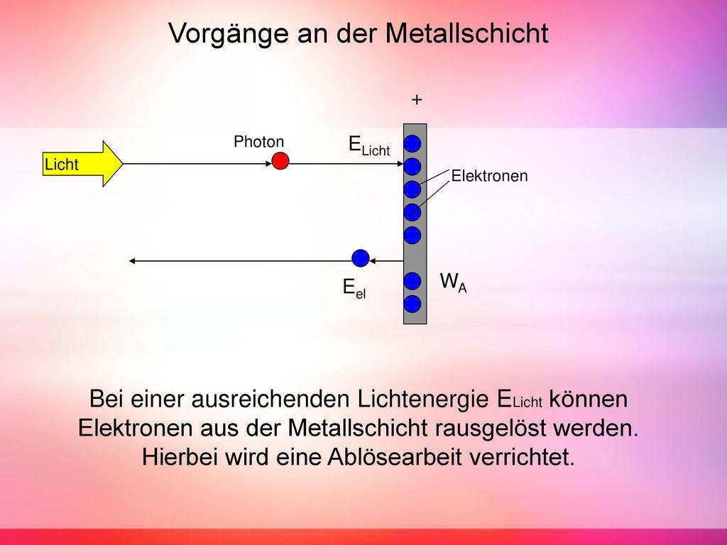 Vorgänge an der Metallschicht