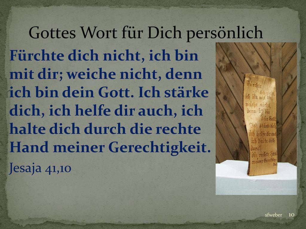 Gottes Wort für Dich persönlich