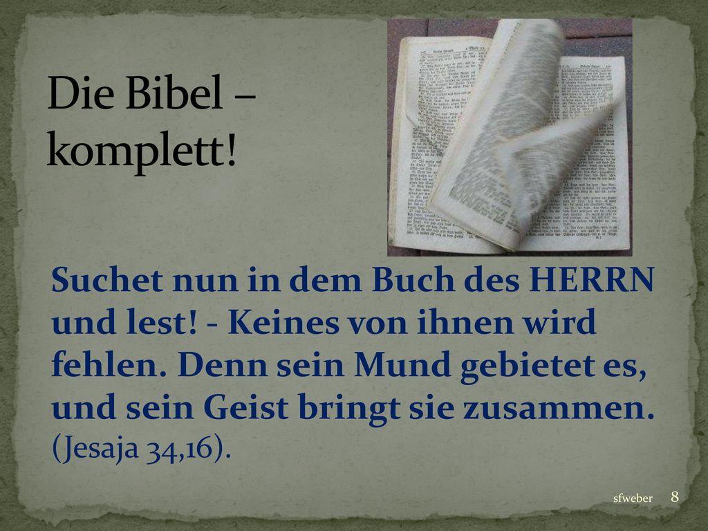 Die Bibel – komplett!