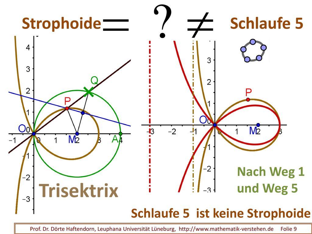 Schlaufe 4 Strophoide Raster- Konstruktion klausurfähig