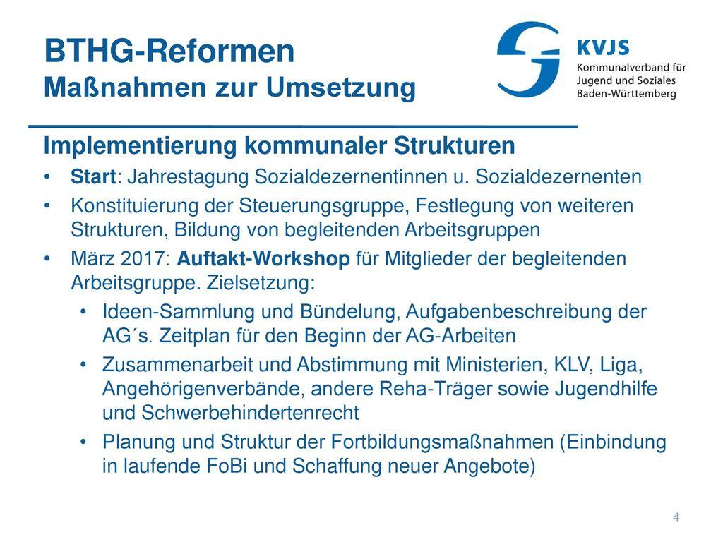 BTHG-Reformen Maßnahmen zur Umsetzung