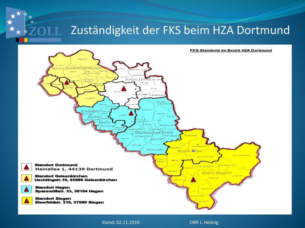 Zuständigkeit der FKS beim HZA Dortmund