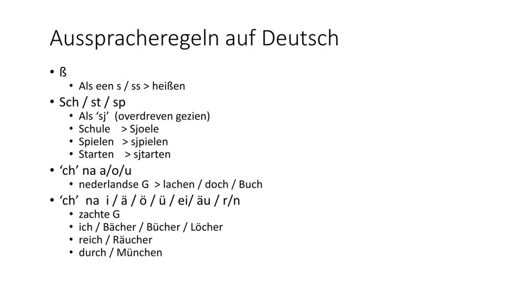 Ausspracheregeln auf Deutsch