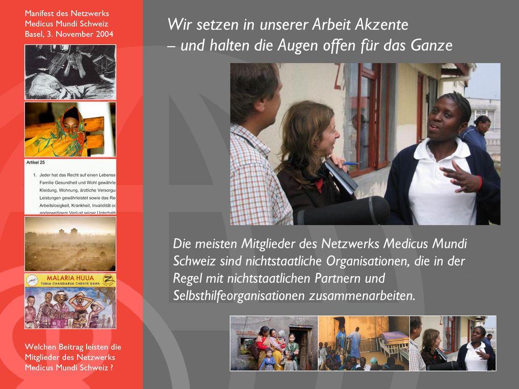 Manifest des Netzwerks Medicus Mundi Schweiz