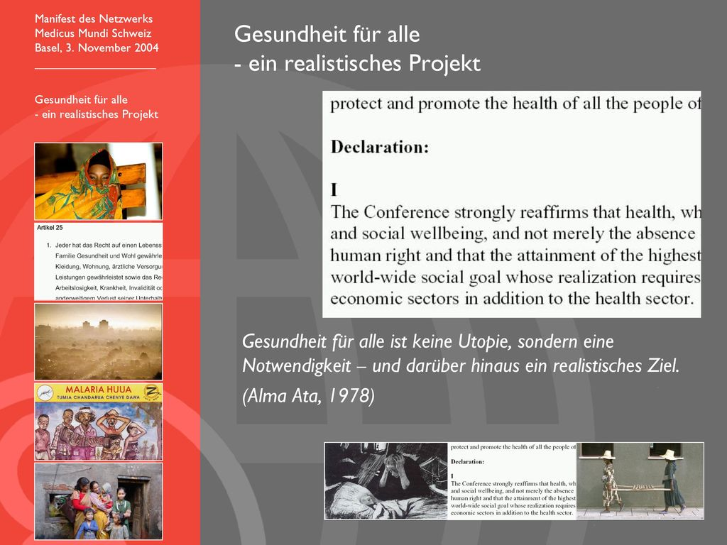 Gesundheit für alle - ein realistisches Projekt