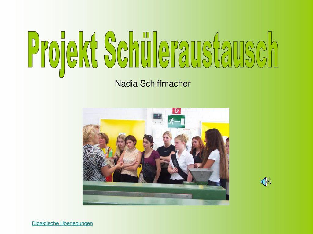 Projekt Schüleraustausch