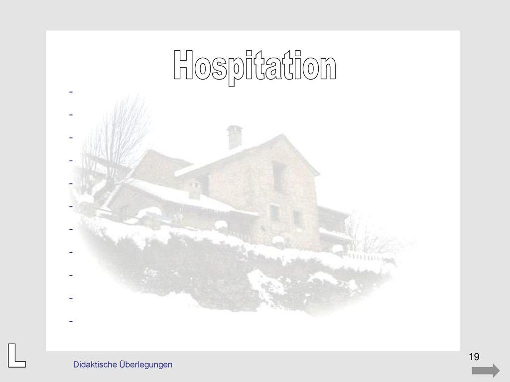 Hospitation - L Didaktische Überlegungen