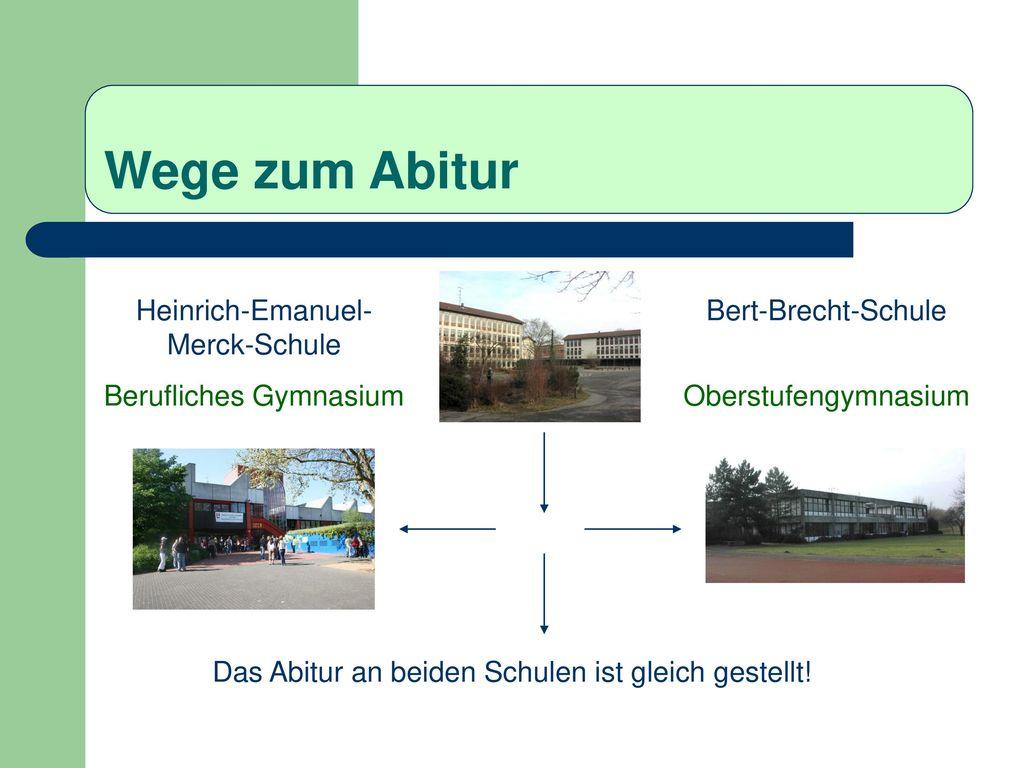 Wege zum Abitur Heinrich-Emanuel-Merck-Schule Berufliches Gymnasium