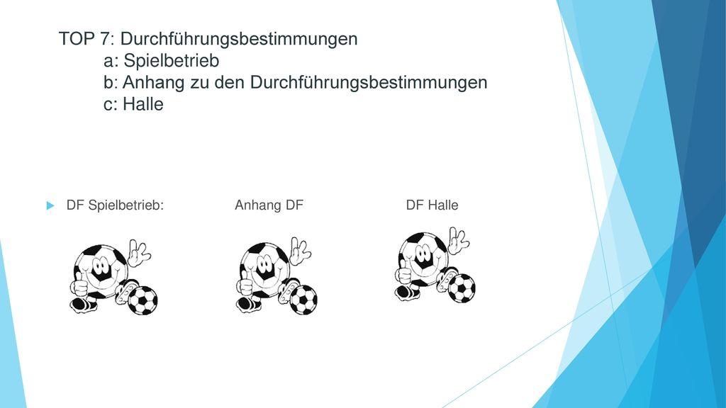 TOP 7: Durchführungsbestimmungen a: Spielbetrieb b: Anhang zu den Durchführungsbestimmungen c: Halle