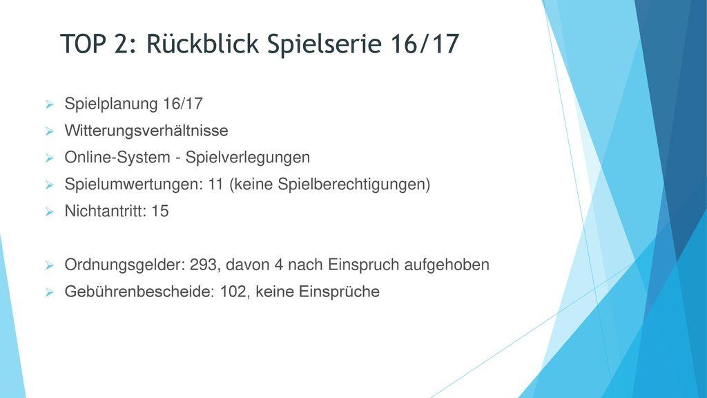 TOP 2: Rückblick Spielserie 16/17