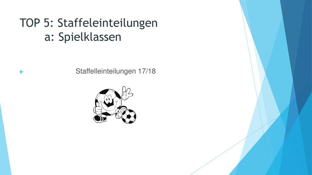 TOP 5: Staffeleinteilungen a: Spielklassen