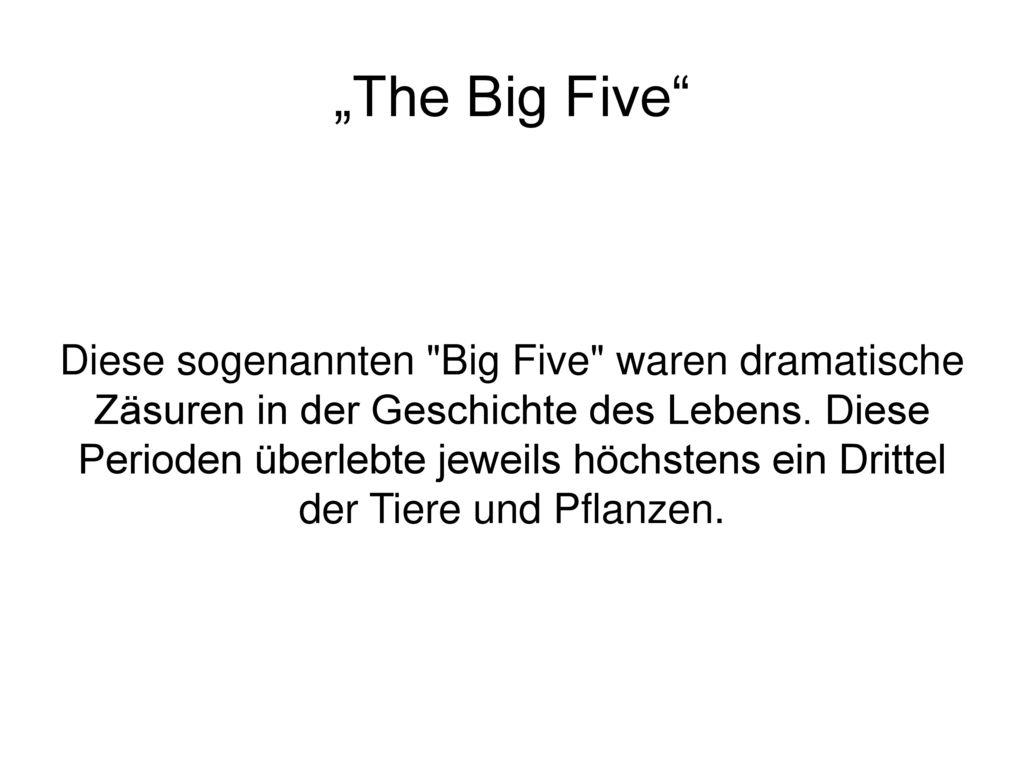 """The Big Five"