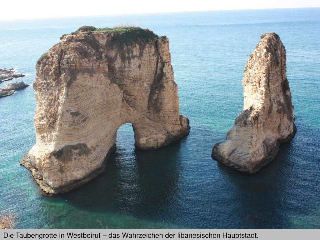 Die Taubengrotte in Westbeirut – das Wahrzeichen der libanesischen Hauptstadt.