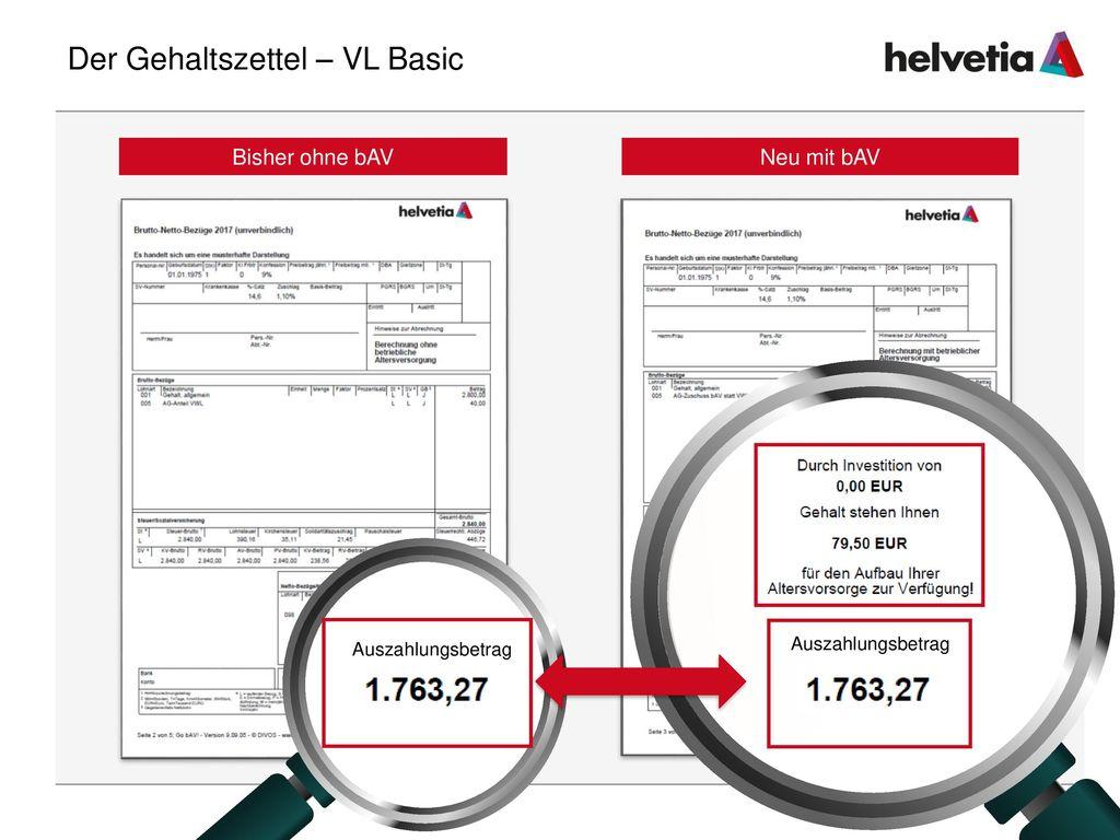 Der Gehaltszettel – VL Basic