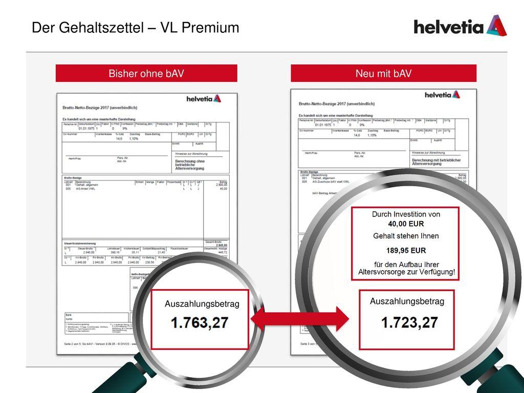 Der Gehaltszettel – VL Premium