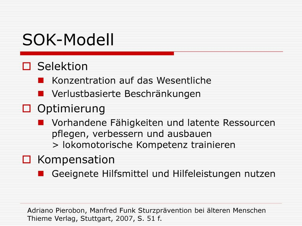 SOK-Modell Selektion Optimierung Kompensation