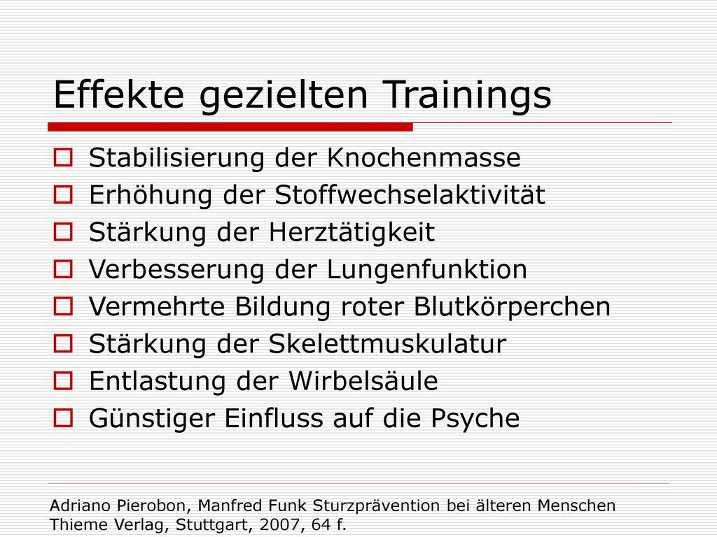 Effekte gezielten Trainings