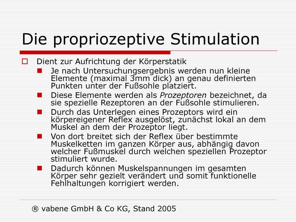 Die propriozeptive Stimulation