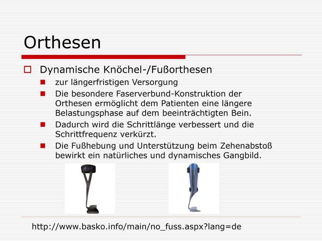 Orthesen Dynamische Knöchel-/Fußorthesen