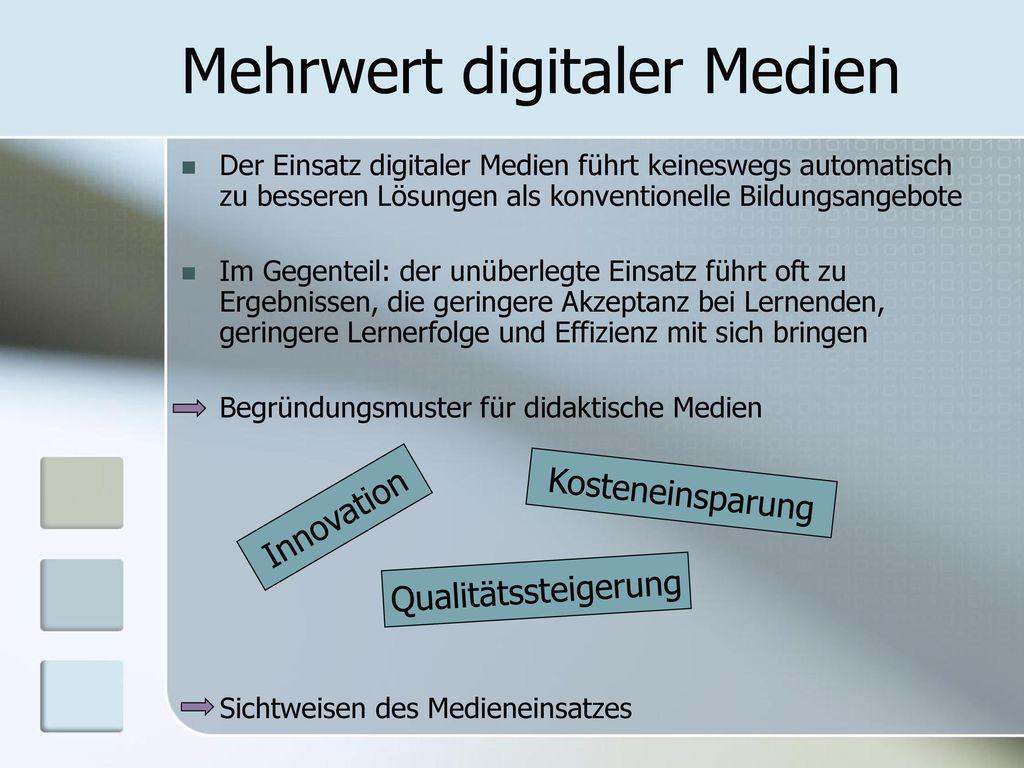 Mehrwert digitaler Medien