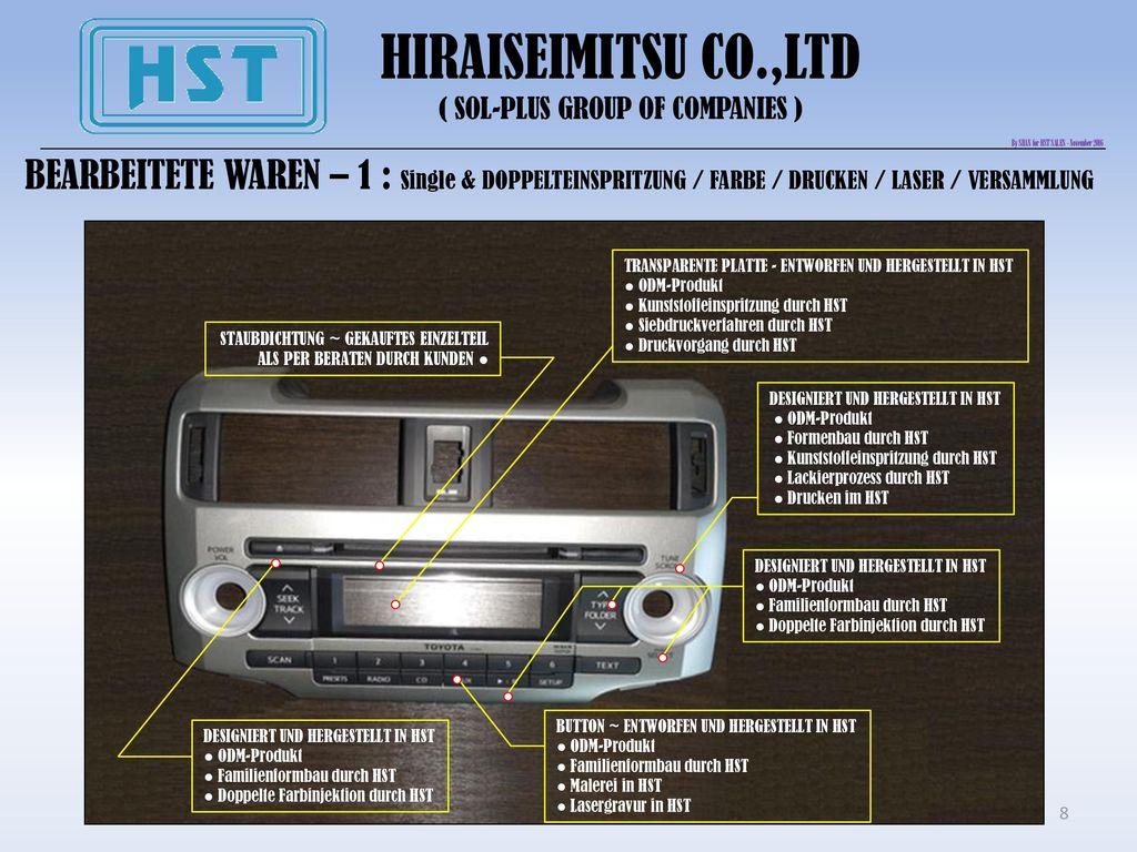 HIRAISEIMITSU CO.,LTD ( SOL-PLUS GROUP OF COMPANIES ) By SHAN for HST SALES - November 2016.
