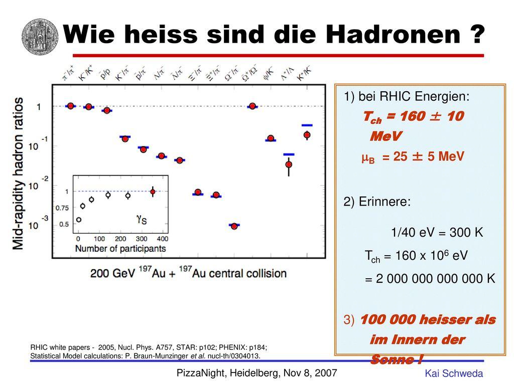 Wie heiss sind die Hadronen