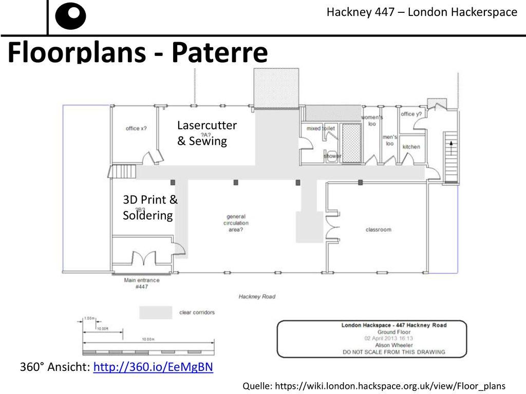 Floorplans - Paterre Hackney 447 – London Hackerspace