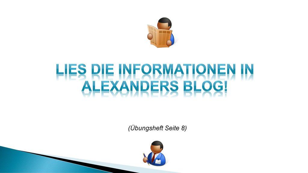 Lies die informationen in