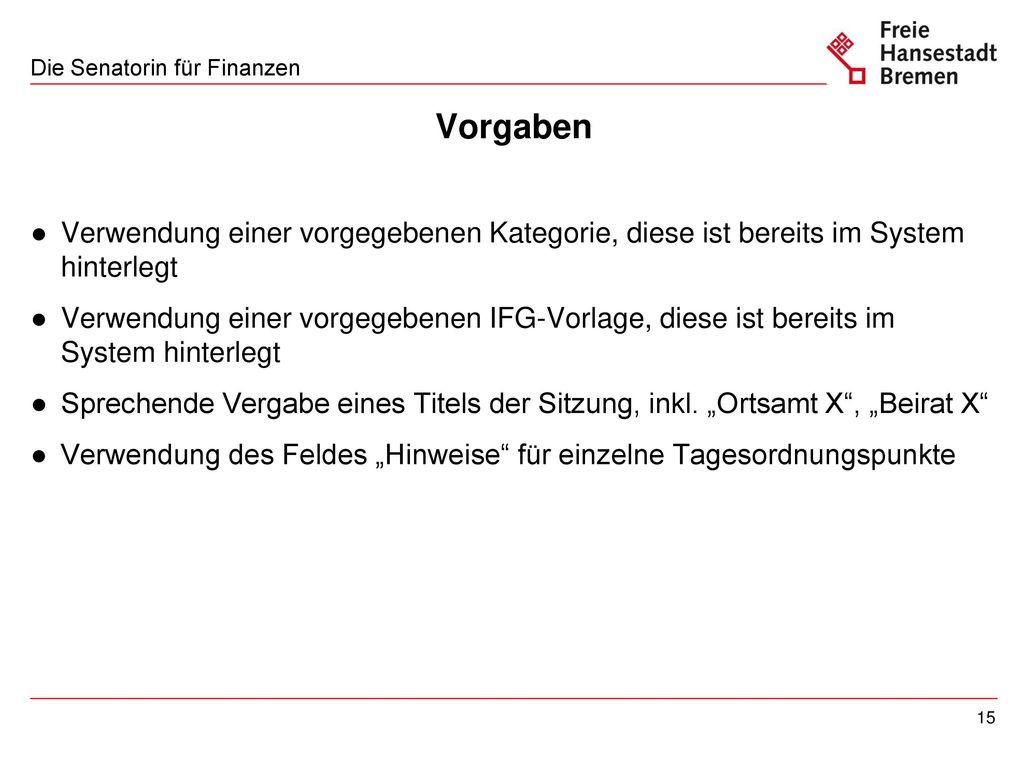 Beispiel einer IFG-Vorlage für Beiratsprotokolle