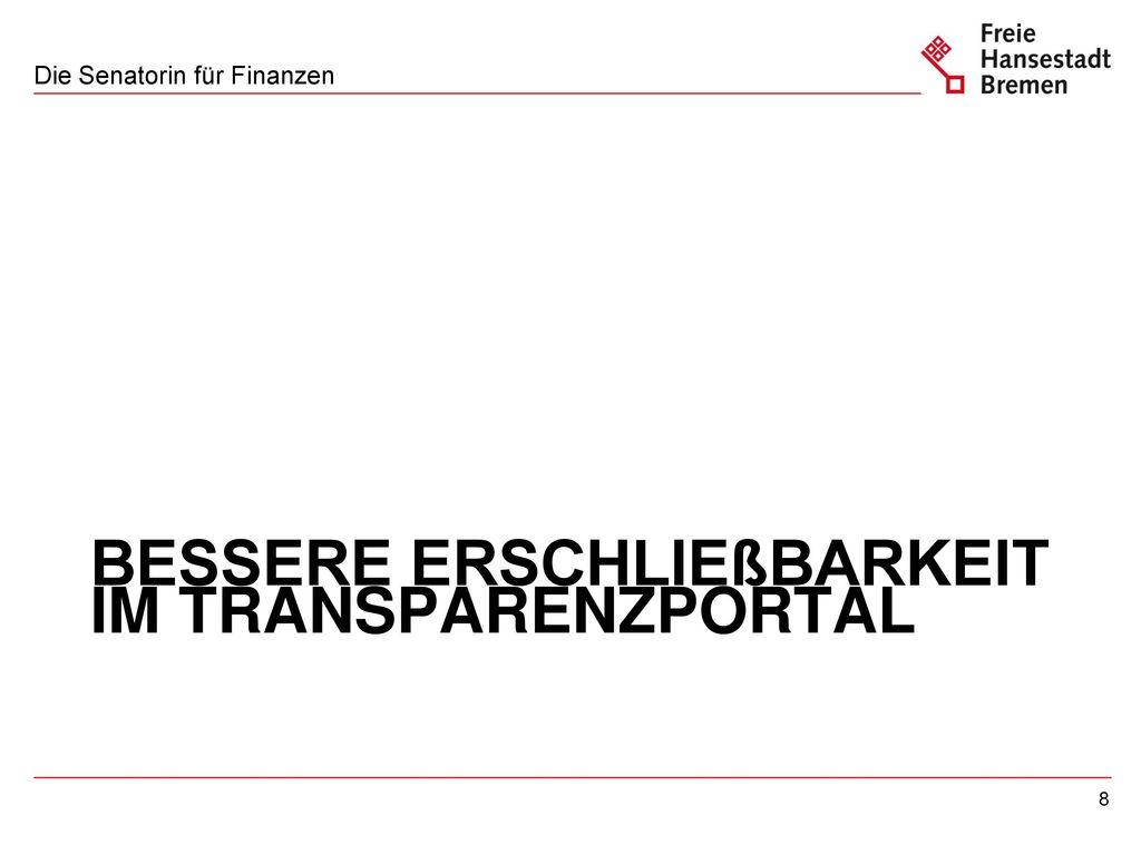 Beispiel Deputationen Sportamt im Transparenzportal