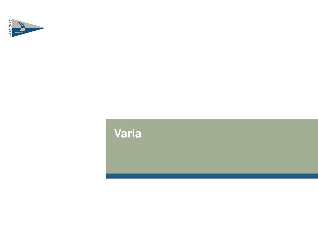 Varia Ordentliche Mitgliederversammlung 2013