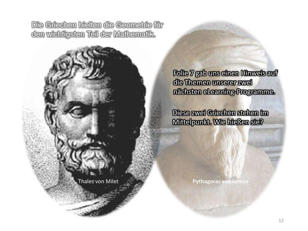 Diese zwei Griechen stehen im Mittelpunkt. Wie hießen sie