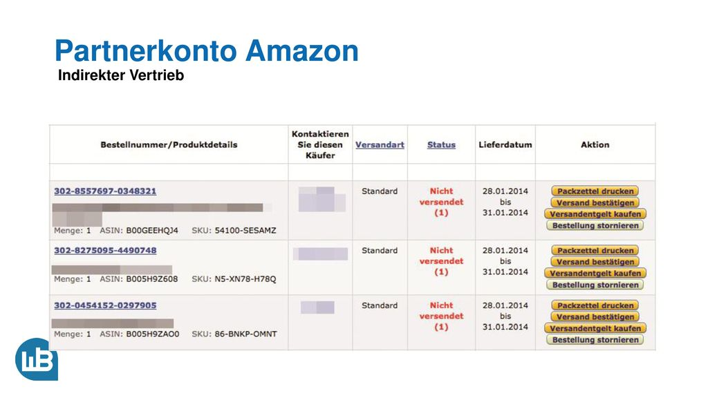 Partnerkonto Amazon Indirekter Vertrieb