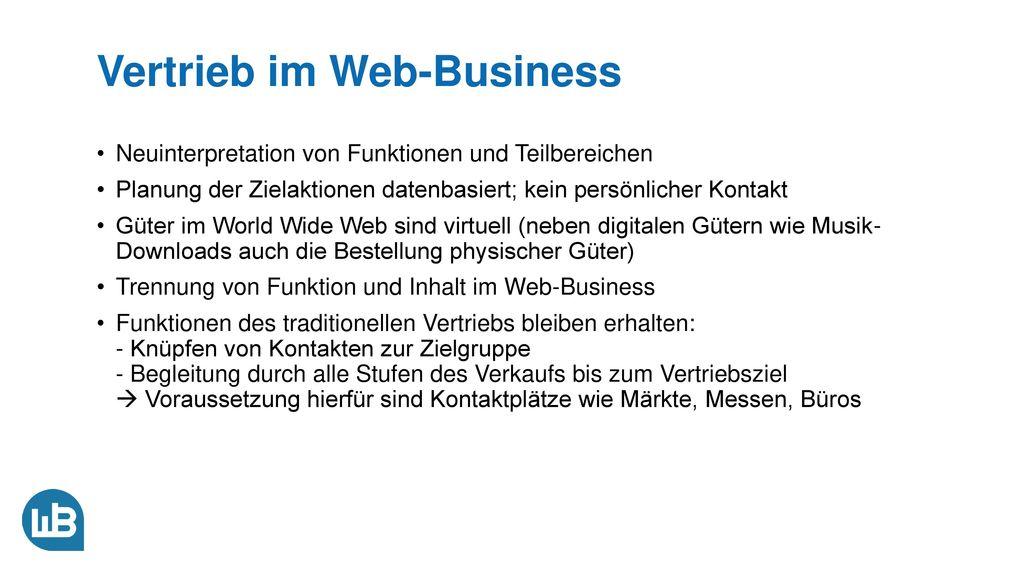 Vertrieb im Web-Business