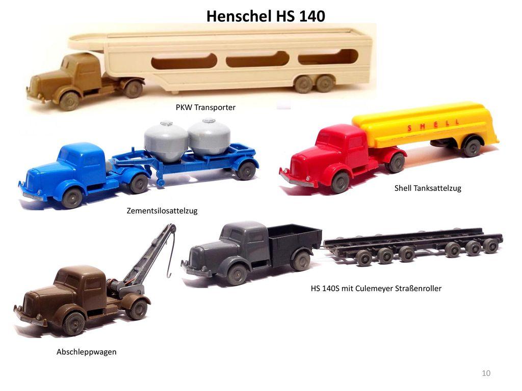 Henschel HS 140 PKW Transporter Shell Tanksattelzug