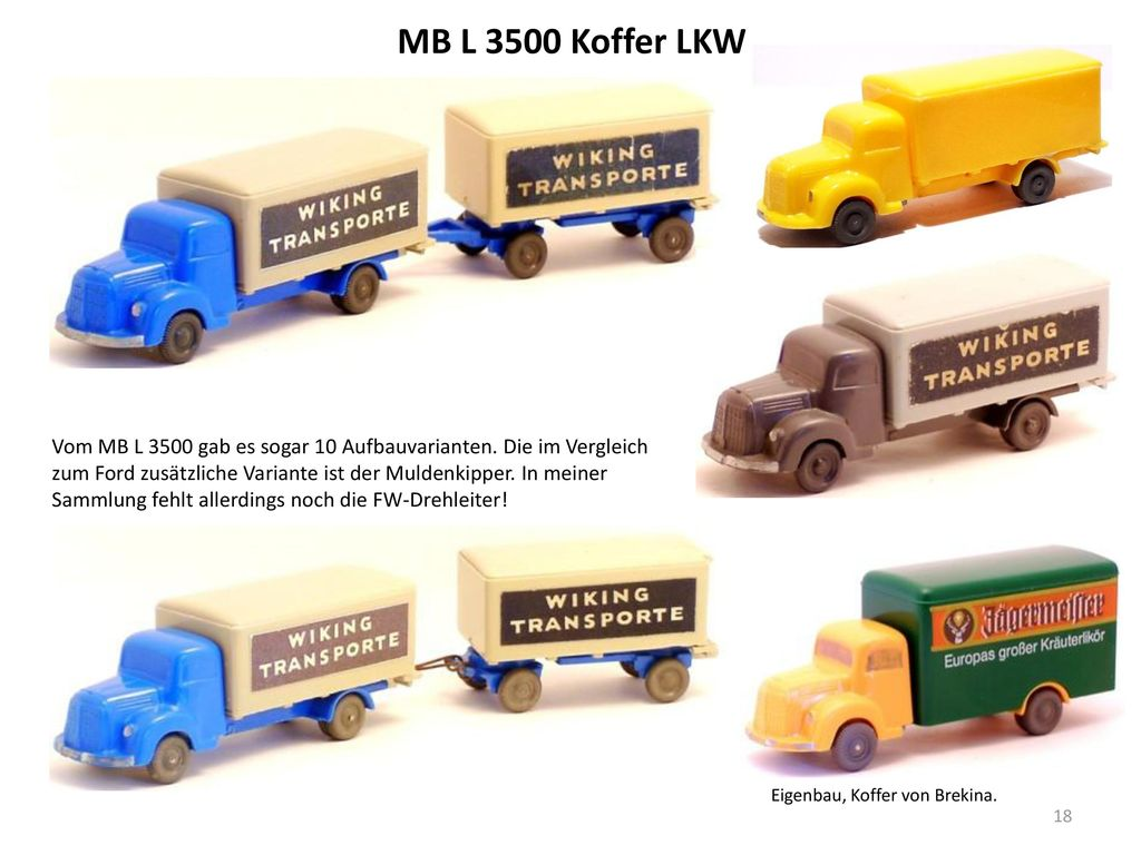 MB L 3500 Koffer LKW