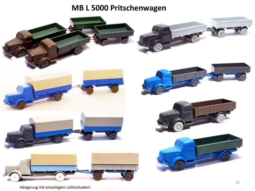 MB L 5000 Pritschenwagen Hängerzug mit einseitigem Lichtschaden!