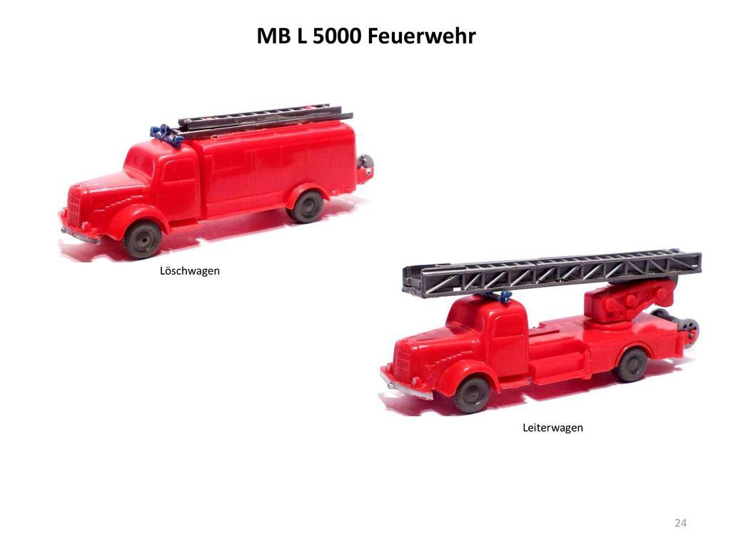 MB L 5000 Feuerwehr Löschwagen Leiterwagen