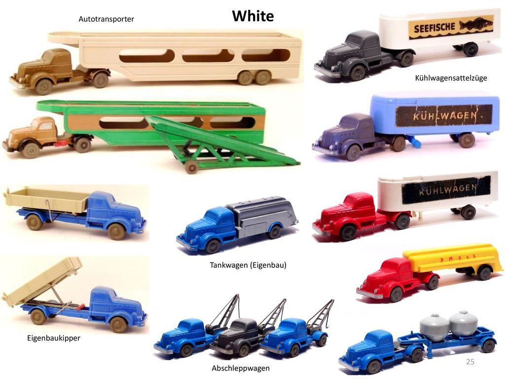 White Autotransporter Kühlwagensattelzüge Tankwagen (Eigenbau)