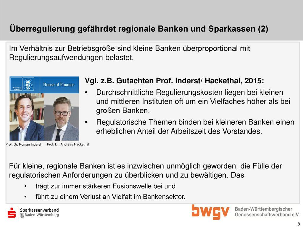 Überregulierung gefährdet regionale Banken und Sparkassen (2)