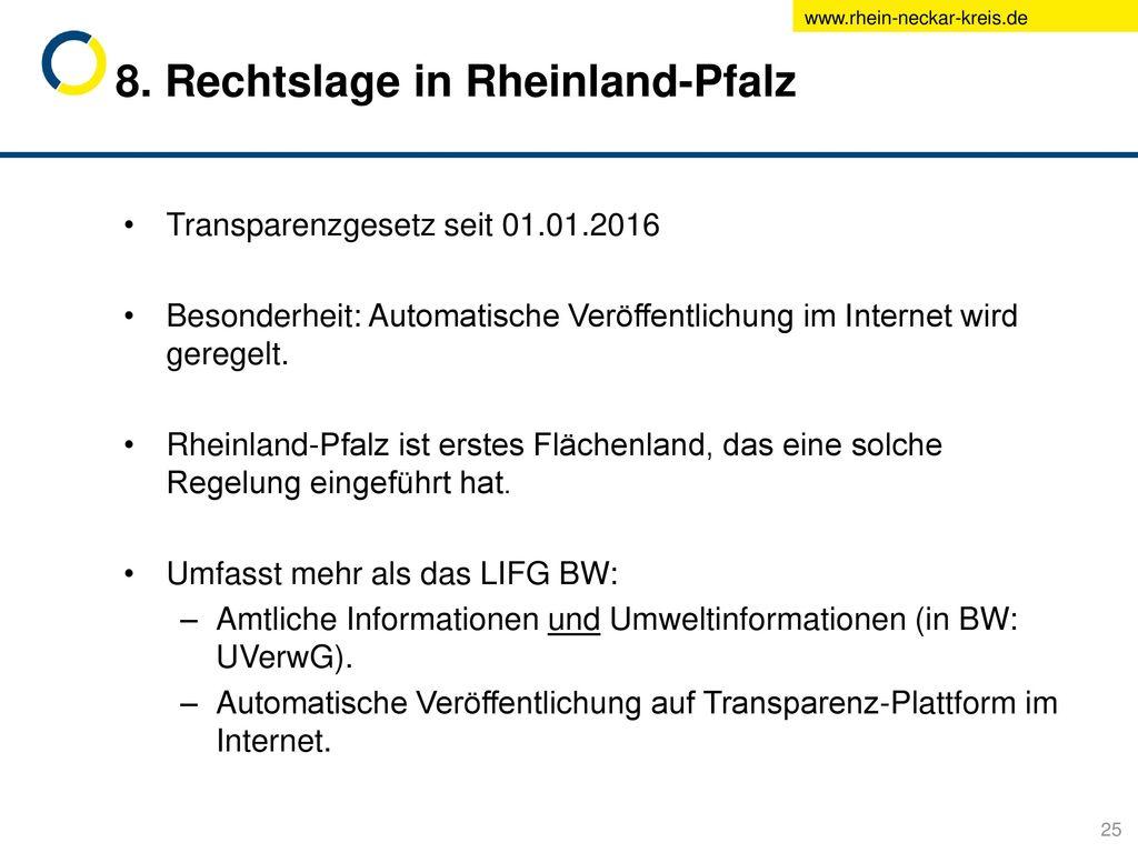 8. Rechtslage in Rheinland-Pfalz