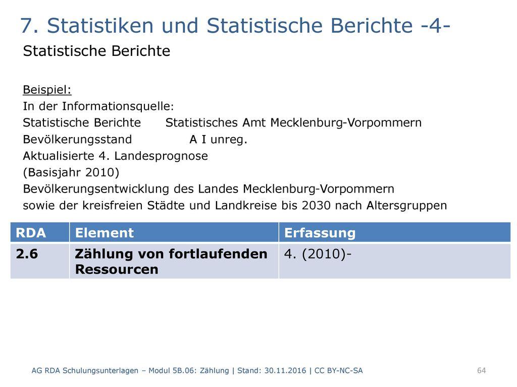 7. Statistiken und Statistische Berichte -4-