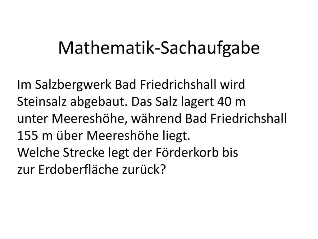 Mathematik-Sachaufgabe