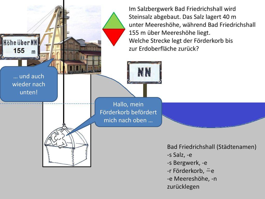 Im Salzbergwerk Bad Friedrichshall wird