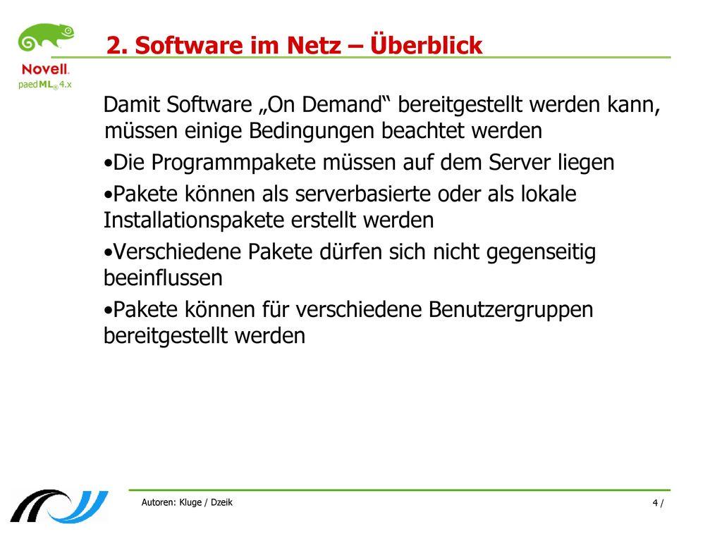 2. Software im Netz – Überblick