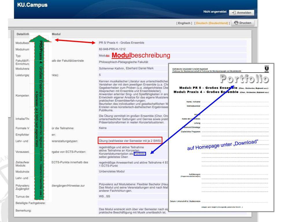 """= Modulbeschreibung auf Homepage unter """"Download"""